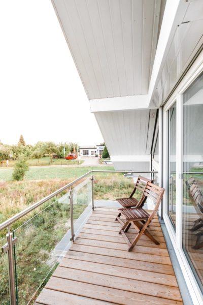 Modernes Fachwerkhaus Holzskelettbau Weiss Hausbau Holzhaus Landhaus 17