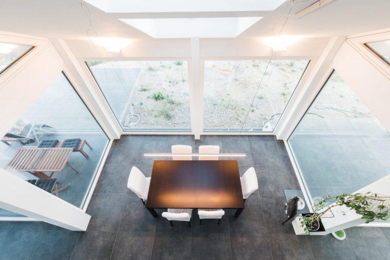 Modernes Fachwerkhaus Holzskelettbau Weiss Hausbau Holzhaus Landhaus 21