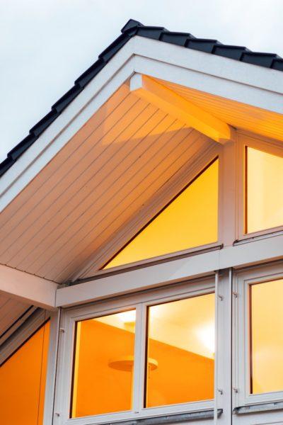 Modernes Fachwerkhaus Holzskelettbau Weiss Hausbau Holzhaus Landhaus 25