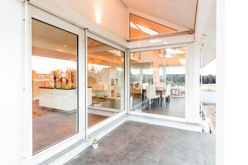 Modernes Fachwerkhaus Holzskelettbau Weiss Hausbau Holzhaus Landhaus 7