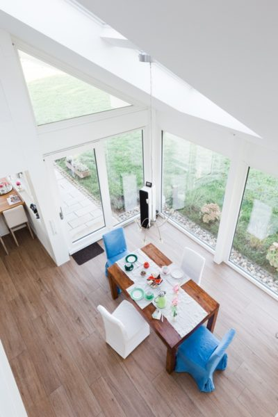 Modernes Fachwerkhaus Landhaus Fachwerk Holz Glas Weiss 13