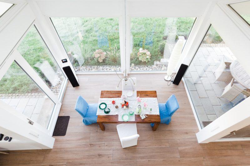 Modernes Fachwerkhaus Landhaus Fachwerk Holz Glas Weiss 14