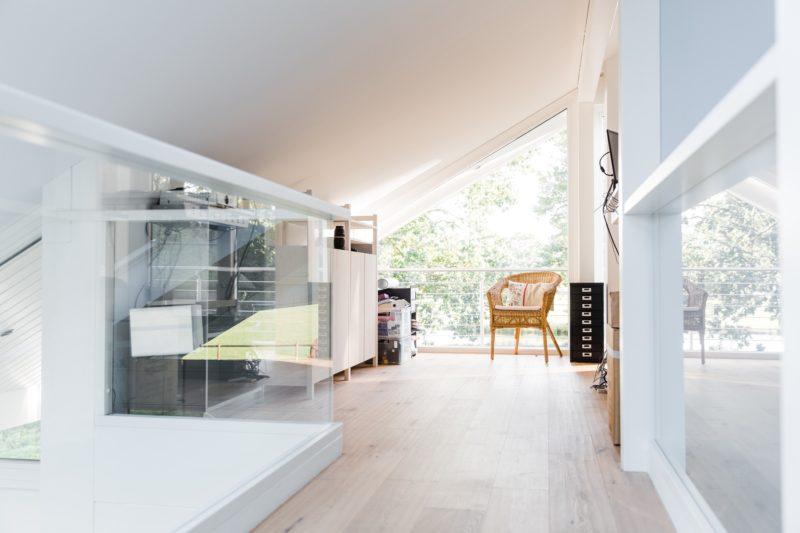 Modernes Fachwerkhaus Landhaus Fachwerk Holz Glas Weiss 16