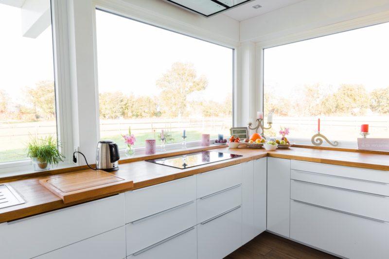 Modernes Fachwerkhaus Landhaus Fachwerk Holz Glas Weiss 17