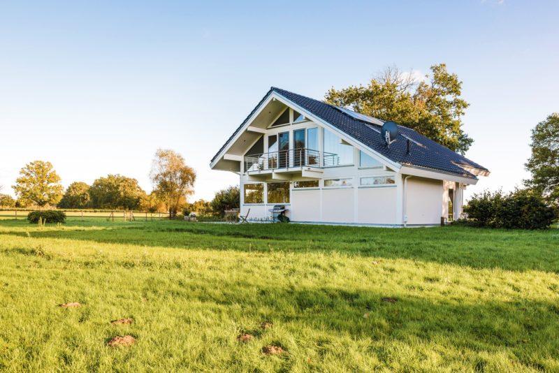 Modernes Fachwerkhaus Landhaus Fachwerk Holz Glas Weiss 5