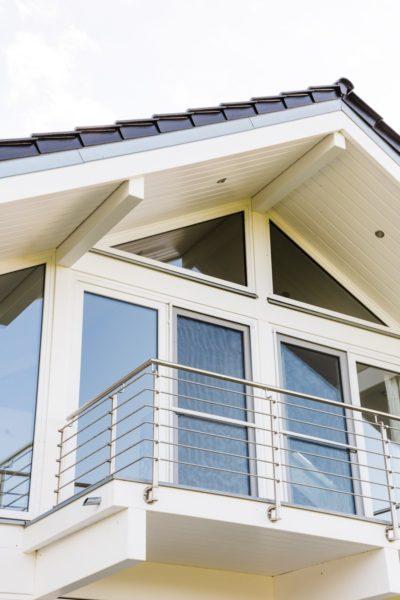 Modernes Fachwerkhaus Landhaus Fachwerk Holz Glas Weiss 6