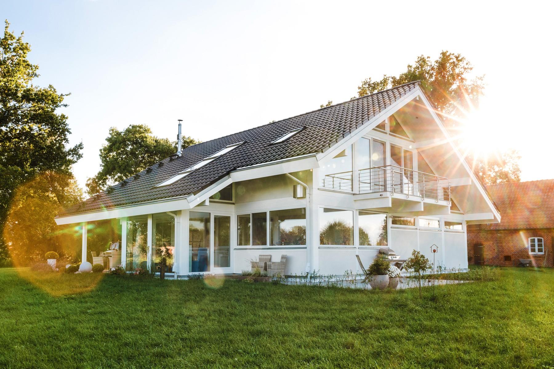 Modernes Fachwerkhaus Landhaus Fachwerk Holz Glas Weiss 7