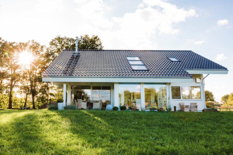 Modernes Fachwerkhaus Landhaus Fachwerk Holz Glas Weiss 8