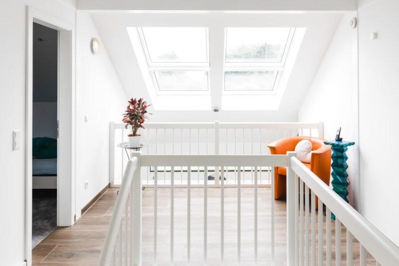 Modernes Fachwerkhaus Landhaus Hausbau Holzskelettbau Schwarz Weiss 10
