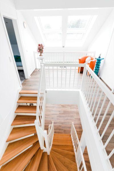 Modernes Fachwerkhaus Landhaus Hausbau Holzskelettbau Schwarz Weiss 8