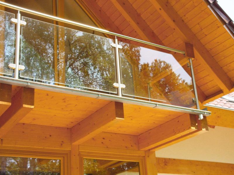 Modernes Landhaus Glas Holz Metall Fachwerk Concentus