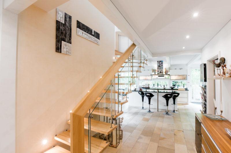 Treppen Holz Skelett Haus
